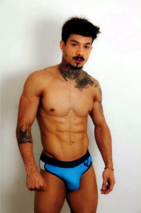 Cueca Slip Colors Azul