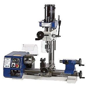 Máquina Multifuncional Hobby Micro Torno + Micro Furadeira + Micro Fresadora Ref:MR-2001