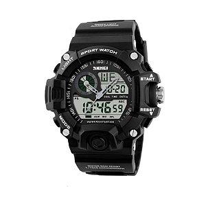 096465c4f8d Relógio Skmei Anadigi 1016 Preto e Branco - Shecom