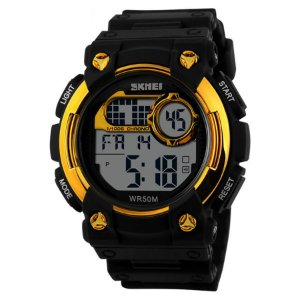 a0c25b1b4dd Relógio Masculino Skmei Digital 1054 - Preto Dourado