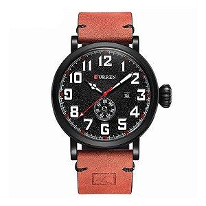 Relógio Masculino Curren Analógico 8283 - Preto e Vermelho