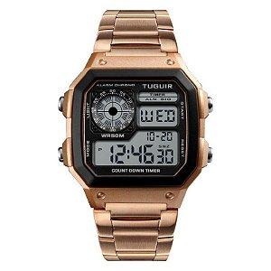 Relógio Feminino Tuguir Digital TG1335 - Rose e Preto