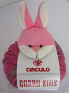 Novelo Lã Gorro Kids Coelho