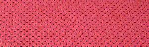 Tecido 100 % Algodão Para Patchwork e Artesanato  Cor Vermelho Poa Preto Largura 1,50