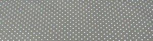 Tecido 100 % Algodão Para Patchwork e Artesanato  Cor Areia Poa Branco Largura 1,50
