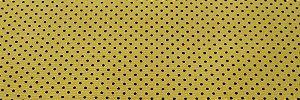 Tecido 100 % Algodão Para Patchwork E Artesanato Em Geral Cor Amarelo Poa Preto larg 1,50