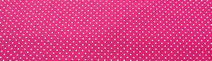 Tecido 100 % Algodão Para Patchwork E Artesanato Em Geral Cor Pink Detalhe Poá Branco larg 1,50