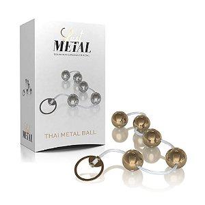Bolinhas Tailandesas Hard Metal Dourada - AC114