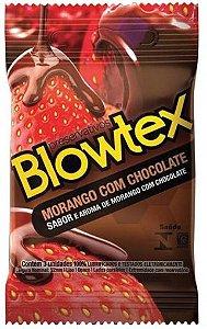 Preservativos Blowtex Morango com Chocolate 3 Unidades