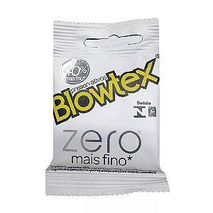 PRESERVATIVOS BLOWTEX ZERO - 40% mais finas Proporcionando mais prazer e Sensibilidade 3 unidades