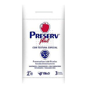 Preservativo Preserv Plus Texturizada com 3 Unidades