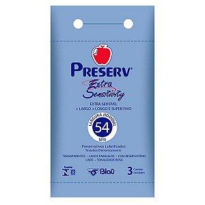 Preservativo Preserv Extra Sensitivy com 3 Unidades