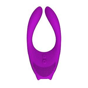 Intt Multi Pro vibrador para Casal com multifuncional Roxo
