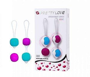 PRETTY LOVE ORGASMIC BALL - Bolas com Peso para Pompoar em silicone - BI014265