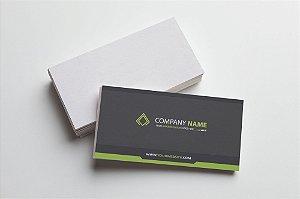 Cartão de Visita - Couchê 250g - Verniz Total Frente  - Colorido Frente