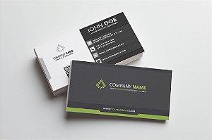 Cartão de Visita - Couchê 250g - Verniz Total Frente  - Colorido Frente - Verso Preto/Branco