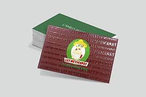 Cartão de Visita - Couchê 250g - Verniz Local - Colorido Frente/Verso