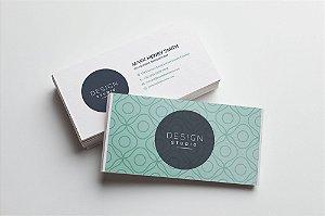 Cartão de Visita - Couchê 250g - Verniz Total Frente e Verso  - Colorido Frente e Verso