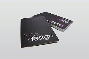 Cartão de Visita - Couchê 300g - Laminação Fosca + Verniz Local - Colorido Frente e Verso