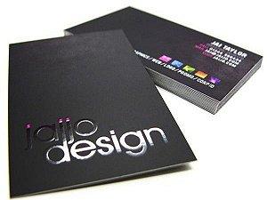 Cartão de Visita - Couchê 300g - Laminação Fosca com Verniz Local - Colorido Frente e Verso + Artefinal