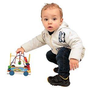 Brinquedo Educativo Aramado de Madeira Carrinho - Carlu