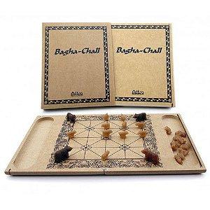 BAGHA-CHALL -  Jogo de Tabuleiro de madeira