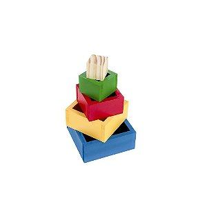 Brinquedo Educativo  Caixas Coloridas