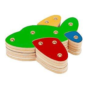 Brinquedo Pedagógico - Troque e Encaixe as Cores - Avião