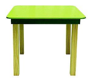 Mesa Infantil Quadrada de madeira Cor verde
