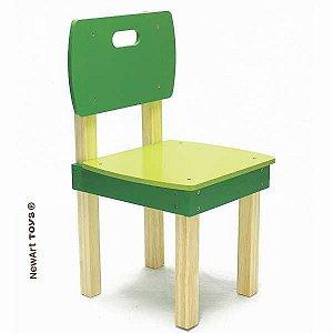 Cadeira de madeira Quadrada Verde Marca NewArt
