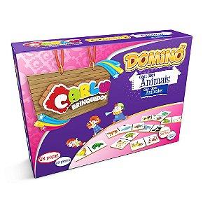Brinquedo Educativo  Dominó infantil Animais