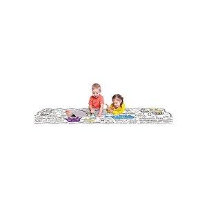 Play-Doh Tapete Bilíngue Com Apagador Para Colorir - Fun Toys