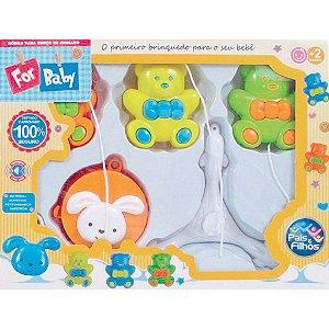 Brinquedo para Bebê Móbile P/ Berço Urso Musical - Pais E Filhos