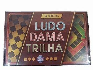 Jogo De Tabuleiro 3 Jogos Ludo Dama E Trilha  Pais E Filhos idade 6 +