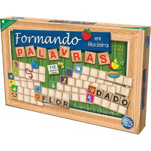 Brinquedo Pedagógico Formando Palavras Em Madeira  Pais E Fi