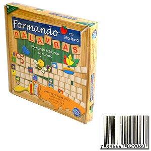 Brinquedo Pedagógico (em madeira) Formando Palavras - Pais E Filhos