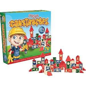 Brinquedo para Montar Mega Construções 76 Peças Pais E Filhos  idade 3 +