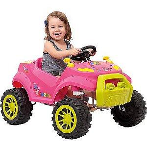 Carrinho Para Bebê Smart Passeio Pedal Rosa - Bandeirante