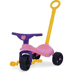 Triciclo Gatinha C/ Empurrador Xalingo