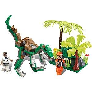 Blocos De Encaixe Dino Expedição Raptor 126 peças Xalingo