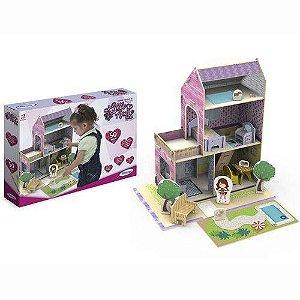 Casinha de Boneca Little House Verão 50 pçs Madeira - Xalingo