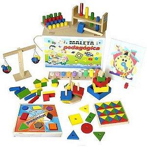Brinquedo Educativo Maleta Pedagógica 10 Jogos Educativos - Carlu