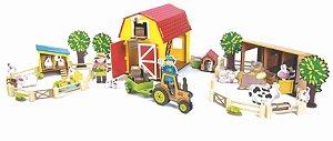 Coleção Fazendinha Completa - Celeiro/Galinheiro/Estabulo/Fazendeiros