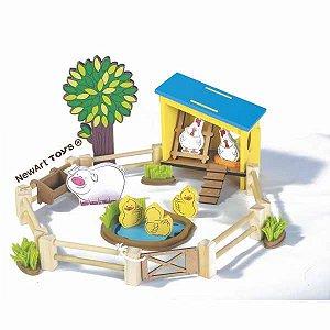 Coleção Fazendinha Galinheiro De Madeira  NewArt Toys