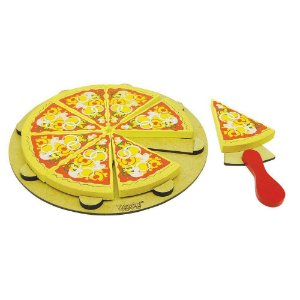 Coleção Comidinhas Pizza 8 Fatias De Madeira - NewArt