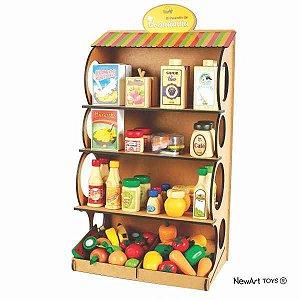 Coleção Comidinhas Expositor Em MDF - New Art Toys