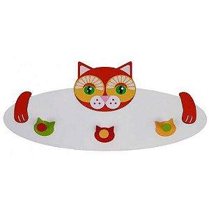 Cabideiro Infantil Gato-New Art-Madeira Colorido