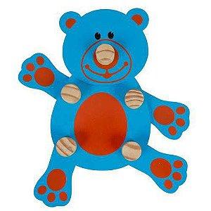 Gire e Crie Urso NewArt Quebra-Cabeça de Madeira Azul
