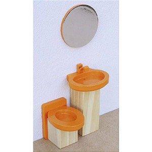 Coleção Casinha - Kit Banheiro Laranja - NewArt