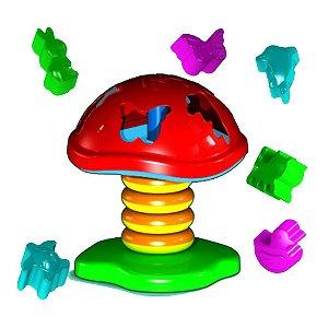 Brinquedo Cogumelo Educativo 6 Peças - Carimbrás